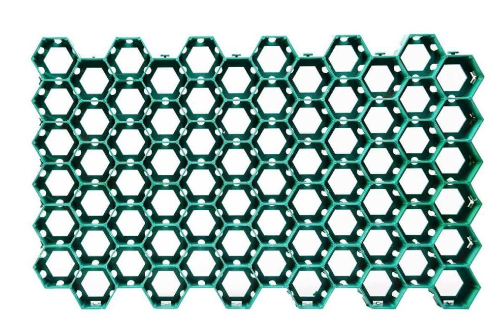 Газонная решетка пластиковая 680х410х33 мм Зеленый цвет