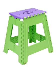 Табурет складной большой. Цвет зелено-фиолетовый