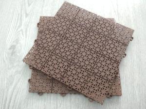Модульное пластиковое покрытие коричневое (терракот)